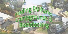 Guide to Finding RV Parks, Campgrounds and Boondocking