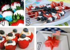 Red, White and Blue food for Memorial Day or the 4th of July