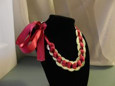 Bright Pink Ribbon Washer Necklace by AlteredAccessories on Etsy, $10.00    Please Share!!