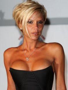 Wondrous Victoria Beckham Asymmetrical Bob Hairstyles Pinterest Hairstyles For Women Draintrainus
