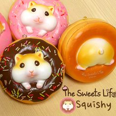 the sweets life hamster squishy