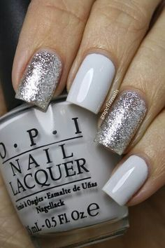 Image via We Heart It #grey #nailpolish #nails #sparkly #opi
