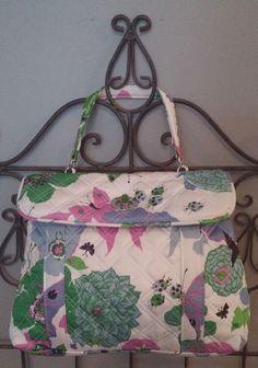 VERA BRADLEY Retired Ltd Edition Nicole Sateen Purse Hand Bag Butterflies Nature #VeraBradley #Handbag