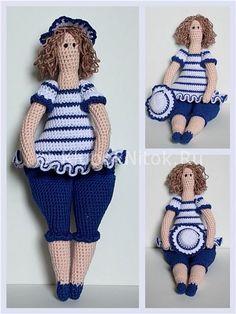 Тильда толстушка | Вязание для девочек | Вязание спицами и крючком. Схемы вязания.