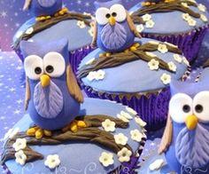 Purple Owl Cupcakes *w*