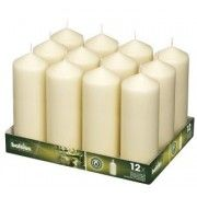 BOLSIUS Ivory Pillar Candles - 12 Pack- 62 Long Burning Hours Candle Set - x Dripless Candle - Perfect for Wedding Candles, Parties and Special Occasions Citronella Candles, Beeswax Candles, Votive Candles, Scented Candles, Best Smelling Candles, Church Candles, Candles Online, Luxury Candles, Candles