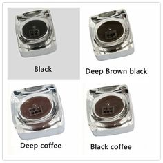 4  Colors  Square Bottles PCD Tattoo Ink Pigment Professional Permanent Makeup Ink Supply Set For Eyebrow Lip Make up Tattoo Kit
