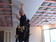How i hang sheetrock drywall on the ceiling by myself or holdall drywall tool solutioingenieria Image collections