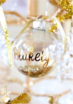 DIY Personalized Christmas Ornaments - This project couldn't be easier!