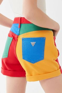 Shop GUESS X J Balvin Claudia Colorblock High-Rise Short at Urban Outfitters today. We carry all the latest styles, colors and brands for you to choose from right here. Retro Outfits, Cool Outfits, Fashion Outfits, Womens Fashion, Fashion Fashion, Kawaii Clothes, Diy Clothes, Clown Clothes, Baggy Pants