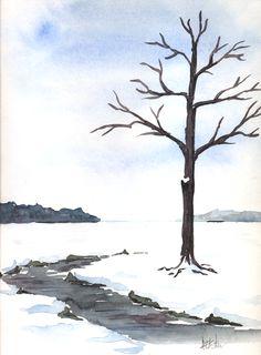 Winter Landscape ~ watercolor