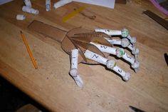 How to paper mache hands