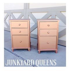 Modern masters gold and copper mixed! Great for rose gold! Pink Gold Office, Pink And Gold, Rose Gold, Decor Interior Design, Interior Decorating, Copper Rose, Modern Masters, Gold Wood, Filing Cabinet