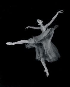 Photo of a young Diana Vishneva being perfect