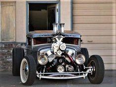 pics of rat rod trucks Dually Trucks, Pickup Trucks, Rat Rod Pickup, Cool Electric Guitars, T Bucket, Weird Cars, Crazy Cars, Semi Trucks, Rats