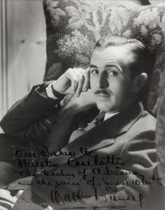 Walt Disney Photo & Inscription to Adriana Caselotti's Father (1937; photo by Clarence Sinclair Bull)