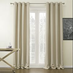 72'W x 63'L (Set of 2 panels) Multi Size Available Custom Modern Solid Polyester Grommet Top Lined Blackout Window Treatment Draperies