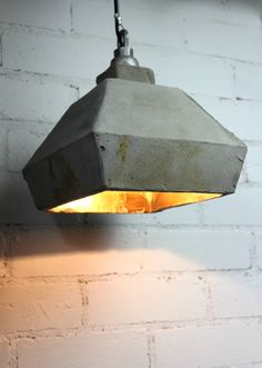 sementti concrete pendant light