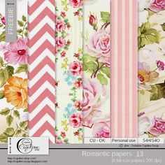 CAJOLINE-SCRAP: Freebie - CU Romantic papers 13