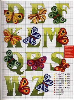 Butterfly Alphabet Chart 2