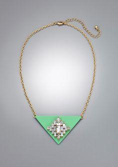 LOLA Embellished Triangle Necklace