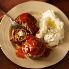 Cheese-Stuffed Mini Meat Loaves Recipe