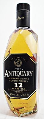 The Antiquary Scotch Whisky Blend 12 year old Bourbon Whiskey, Scotch Whisky, Blended Whisky, Spiritus, Beverages, Drinks, Brand Packaging, Whiskey Bottle, Rum