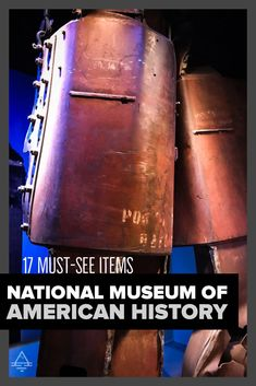 Don't miss these awesome things to see at the National Museum of American History in Washington DC! Washington Dc Travel, National Museum, Awesome Things, American History, Trips, Vacation, Destinations, Washington Dc Trip, Us History