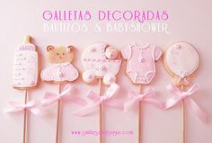 Galletas decoradas bautizo & babyshower