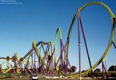 Medusa (now Bizarro), Six Flags Great Adventure, Jackson, NJ, first floorless coaster, B&M