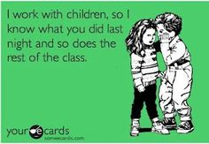 Oh the stories that I hear from my class! #teachinghumor