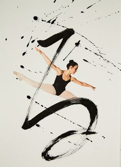 """Rurubu (meaning ""to dance and flow slowly"" in Japanese) is a collaborative project by Toronto-based photographer Haley Friesen and San Francisco-based calligraphy artist Nobuhiro Sato that explores the powerful expressions of body movement coupled with energetic strokes of ink."" -- My Modern Metropolis"