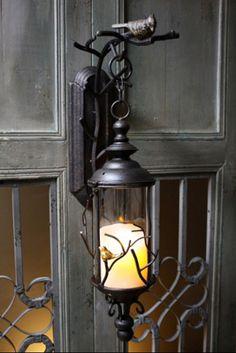 Avian Rustic Lantern - by Laguna Furnishings - Accessories, Gifts & More in Westlake Village CA - http://www.lagunafurnishings.com/catalog/accessories