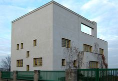 """#57 - Form follows Function  """"ornament is crime""""-Adolf Loos  Modernist architects echoed this statement and cleasnsed their buildings of all ornament.   Müller house 1928. Adolf Loos"""
