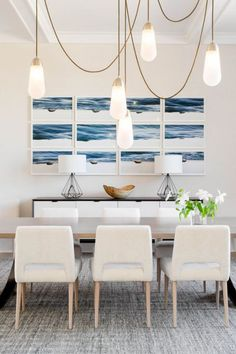 New Work for Tamara Magel Featured in Elle Decor — Rikki Snyder Beach Design, Palm Beach, Beautiful Dining Rooms, Dream Decor, Wall Treatments, Elle Decor, Dining Room Table, Home Decor Inspiration, Decorating Your Home