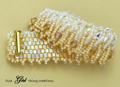 Café au Latte Seed Bead Bracelet with Free Shipping (Item 2003). $100.00, via Etsy.