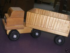 How can an old toy truck look so good? Solid maple - just sand and refinish, and it looks like new.