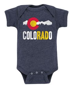 This Heather Blue 'Colorado' Bodysuit - Infant is perfect! #zulilyfinds
