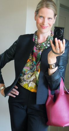 Gemstone necklace, Fleurs d'Indiennes, Kelly Dog, Picotin, Capsule wardrobe look sheets, Hermes scarf as halter top
