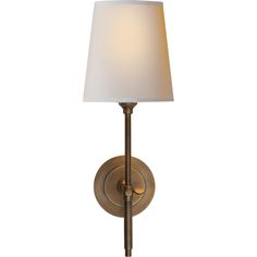 Thomas O Brien Bryant Sconce in Hand-Rubbed Antique Brass with Natural Paper Shade by Visual Comfort TOB2002HAB-N $199.40