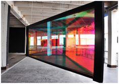 Vision Polychromatique, élasticité, de Etienne REY, artiste plasticien marseillais