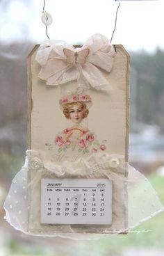 A tag calendar by Anne Kristine