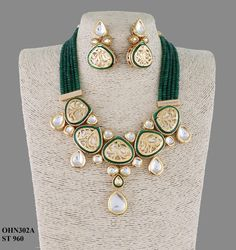 Kundan Jewellery available at Ankh Jewels for booking msg on Indian Jewelry Earrings, Fancy Jewellery, Indian Wedding Jewelry, Gold Jewellery Design, India Jewelry, Bridal Jewelry, Jewelery, Silver Jewelry, Silver Earrings