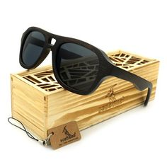 """Retro Fashion"" Polarized Wooden Sunglasses (Grey Lenses)"