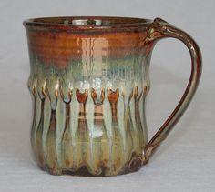 Pottery mug handthrown ceramic stoneware