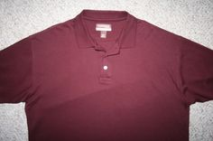 Large Cambridge Classics cotton burgundy red SS polo shirt Mens Choice men man #CambridgeClassics #PoloRugby