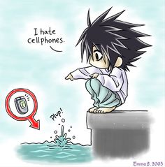 """Death Note, L. """"I Hate Cellphones"""""""