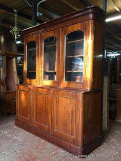 Mobili antichi - Librerie Antica libreria inglese a tre ante - Libreria inglese in mogano Immagine n°1