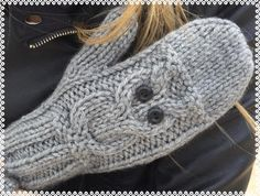 Snug Owl Mitts Knitting pattern by The Lonely Sea   Knitting Patterns   LoveKnitting