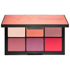 Shop Nars' Narsissist Unfiltered Cheek Palette at Sephora. This set of six blush shades comes in a limited-edition, mirrored palette. Makeup Case, Skin Makeup, Makeup Dupes, Makeup Geek, Makeup Tools, Eyeshadow Makeup, Makeup Brushes, Sephora, Paraben Free Makeup